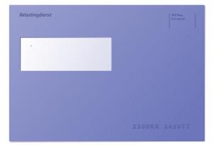 Belastingdienst blauwe envelop